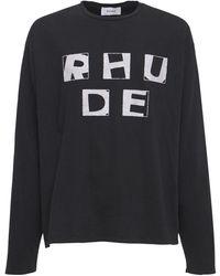 Rhude Haus コットンtシャツ - ブラック