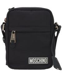 Moschino Rubber Label クロスボディバッグ - ブラック