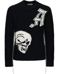 Alexander McQueen - Skull インターシャウールセーター - Lyst