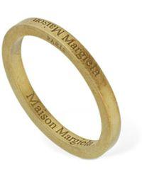 Maison Margiela Schmaler Ring Mit Umgedrehtem Logo - Mettallic