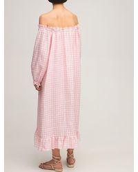 "Sleeper Midikleid Aus Leinen ""loungewear"" - Pink"