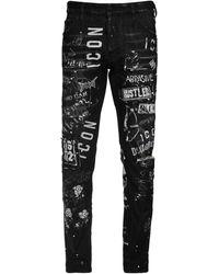 """DSquared² Jeans Aus Baumwolldenim """"icon Cool Guy"""" - Schwarz"""