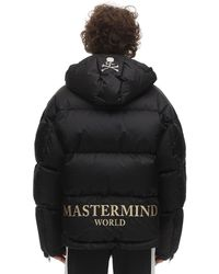 MASTERMIND WORLD ナイロンダウンジャケット - ブラック