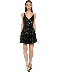 Dolce & Gabbana Short Sequined Dress - Schwarz