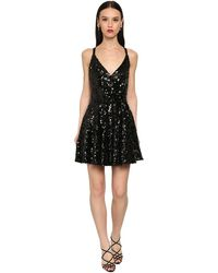 Dolce & Gabbana スパンコールミニドレス - ブラック