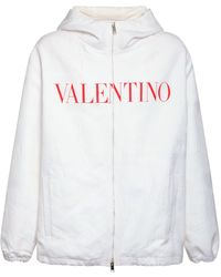 Valentino - フーデッドジップジャケット - Lyst