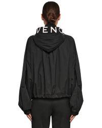 Givenchy - Coupe-vent En Nylon À Capuche Avec Zip - Lyst