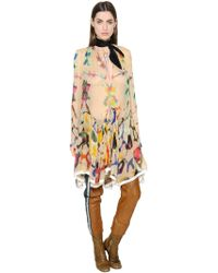 Chloé - Printed Silk Chiffon Dress - Lyst