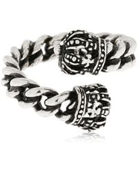 Alcozer & J - Crown Chain Ring - Lyst