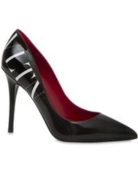 Valentino - 105mm Vltn Patent Leather Pumps - Lyst