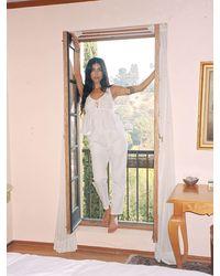 Ciao Lucia Pietro Washed Cotton Chino Pants - White