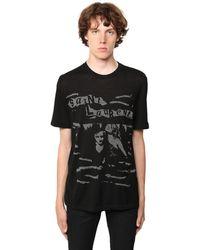 Saint Laurent T-Shirt mit Rundhalsausschnitt - Schwarz