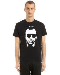 Neil Barrett - Bedrucktes T-shirt Aus Baumwolljersey - Lyst