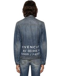 Givenchy Jeansjacke Aus Vintage-denim Mt Logo - Blau