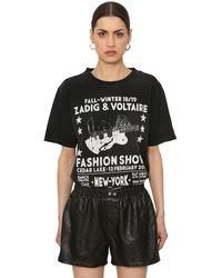 Zadig & Voltaire Fashion Show コットンジャージーtシャツ - ブラック