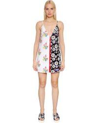 Au Jour Le Jour - Floral Print Zip-up Neoprene Dress - Lyst