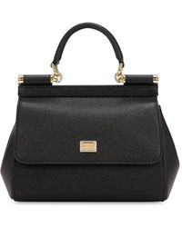 Dolce & Gabbana - Small Sicily Dauphine Leather Bag - Lyst