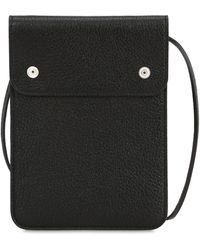 Maison Margiela - Leather Pouch With Strap - Lyst