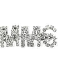 MM6 by Maison Martin Margiela クリスタルヘアクリップ - メタリック