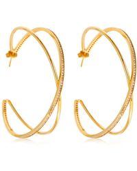 Joanna Laura Constantine - Large Criss Cross Earrings - Lyst