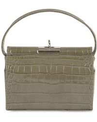 GU_DE - Milky Croc Embossed Leather Bag - Lyst
