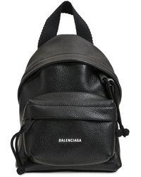 Balenciaga レザーバックパック - ブラック