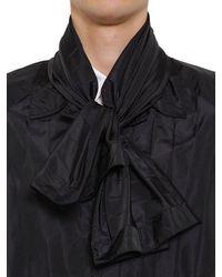 Valentino シルク&キャンバス テクノプリーツコート - ブラック