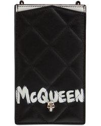 Alexander McQueen キルテッドレザースマートフォンケース - ブラック