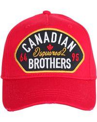 240466e40efd77 DSquared² Canadian Flag Logo Cap Navy in Blue for Men - Lyst