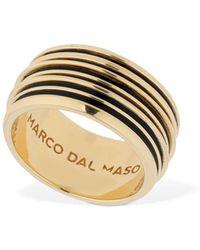 Marco Dal Maso Acies エナメルダブルリング - マルチカラー