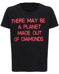 Htc Los Angeles Printed Cotton Crewneck T-shirt - Black