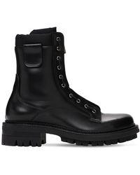 DSquared² Ботинки Из Кожи И Нейлона - Черный