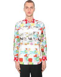 Comme des Garçons - Pop Printed Cotton Poplin Shirt - Lyst