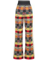 Palm Angels Capsule Missoni Wool Blend Knit Pants - Синий