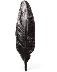 Ann Demeulemeester Broche Plume - Noir