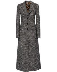 Dolce & Gabbana Длинное Пальто Из Шерсти - Многоцветный
