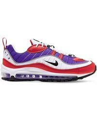 Nike Кроссовки Красного/фиолетового/белого Цвета Air Max 98-красный - Пурпурный