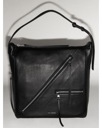 Karl Lagerfeld Hobo-tasche Aus Leder - Schwarz