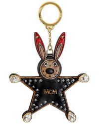 "MCM Charm De Sac ""star Rabbit"" Avec Miroir - Noir"