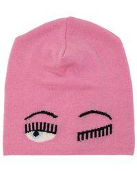 Chiara Ferragni - Eye Intarsia Wool Blend Knit Beanie Hat - Lyst