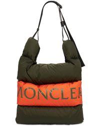 Moncler Grand Sac Porté Épaule En Nylon Imperméable - Multicolore