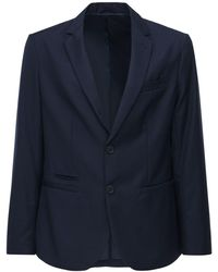 Armani Exchange Veste Boutonnage Simple - Bleu