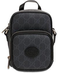 Gucci Mini Gg Supreme クロスボディバッグ - ブラック