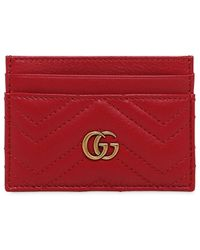 Gucci - Gg Marmont Leather Cardholder - Lyst