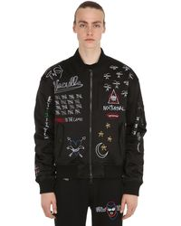 Haculla Nocturnal Embroidered Bomber Jacket - Black