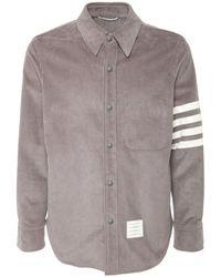 Thom Browne コットンコーデュロイシャツジャケット - グレー
