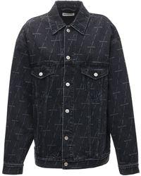 Balenciaga コットンブレンドデニムジャケット - ブルー