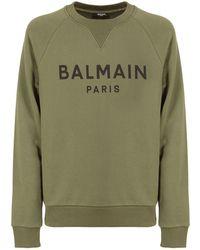 Balmain - コットンジャージースウェットシャツ - Lyst