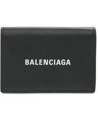 Balenciaga Кожаный Кошелек С Логотипом - Черный