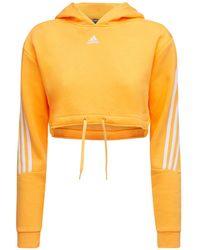 adidas Originals Hoodie Aus Fleece - Orange